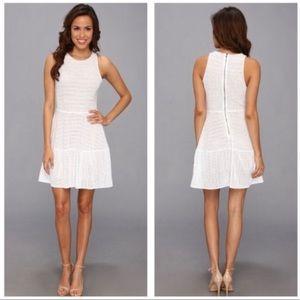 BCBG MaxAzria White Eyelet Cassandra Mini Dress XS